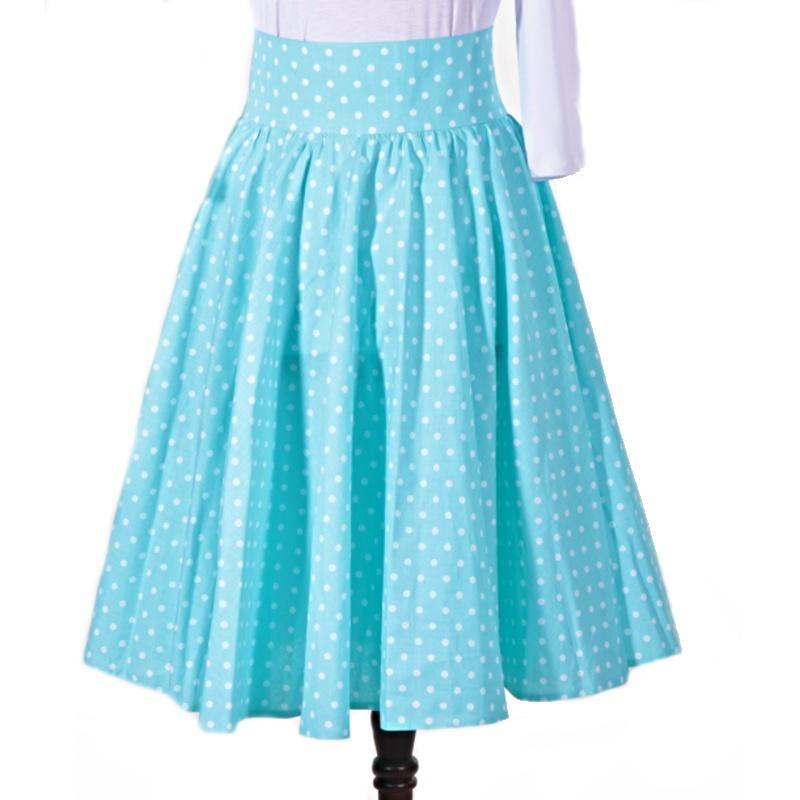 648913eea Dámska retro sukňa Blue modrý bodka - Afrodit.sk
