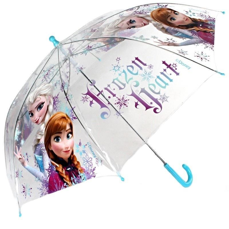 17a2ba438c0b1 Priehľadný holový detský dáždnik Frozen modrý - 1 [+] zväčšiť